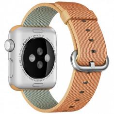 Curea pentru Apple Watch 40 mm iUni Woven Strap, Nylon, Gold Red