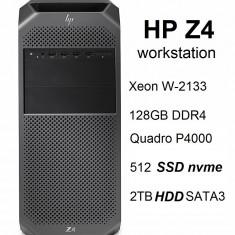 HP Z4 G4 Workstation cu Intel Xeon W-2133 128GB RAM si Quadro P4000, nou, Peste 16 GB, Peste 2 TB