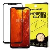 Folie Sticla Wozinsky Super Tough pentru Nokia 81 5D Full Cover acopera tot ecranul Full Glue Negru