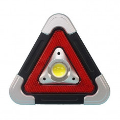 Triunghi luminos pentru semnalizare urgente XF-6889, 500 lm, LED COB, incarcare solara, Oem