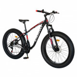 Bicicleta MTB-Fat Bike Shimano SL-TX30 26 inch Carpat Aventus CSC2600H negrugrirosu