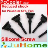 4buc cauciuc siliconic PC procesor carcasa suruburi pentru fixare FAN