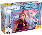 Cumpara ieftin Puzzle de colorat maxi, Elsa, Anna si Olaf, 60 piese