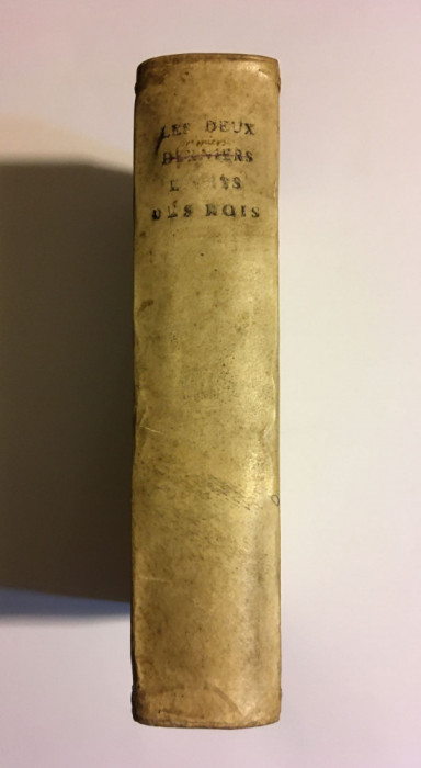 Cele două cărți ale lui SAMUEL - Vechiul Testament (BIBLIA Sacy, Paris - 1714)