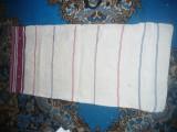 Fata de perna mare din tesatura manuala de in -f.veche, dim.=92x 43cm