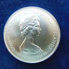Moneda argint 5 Dolar 1972, Bahamas, piesa mare (cn103)