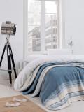 Patura Stripe Albastru / Crem, 180 x 220 cm