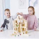Cumpara ieftin Set de constructie din lemn circuit cu bile.