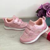 Cumpara ieftin Adidasi cu scai colorati roz cu sclipici pt fetite 27, Fete