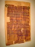 A913-Manuscris vechi 1914 F. Jozsef postat pe carton.