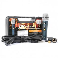 Power Dynamics PDM663, microfon dinamic, XLR, inclusiv cabluri, console, adaptoare