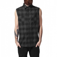 Sleeveless Checked Flanell Shirt