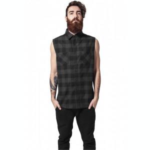 Camasa sleeveless checked flanell shirt Urban Classics S EU