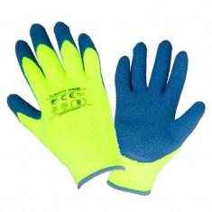 Manusi latex cu acril, protectie termica, confort ridicat, mansete elastice, marime 9/L, Verde