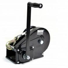 Troliu cu manivela si frana Bass BS-3014, capacitate 2250 Kg, lungime 15 m
