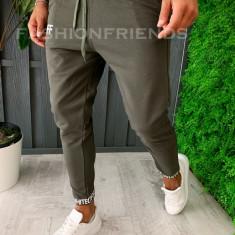 Pantaloni de trening pentru barbati - slim fit - kaki - a6053, Din imagine