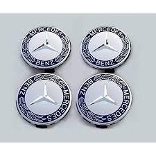 Capace jante Mercedes BEnz cu lauri albastrii,75cm 4 bucati la set