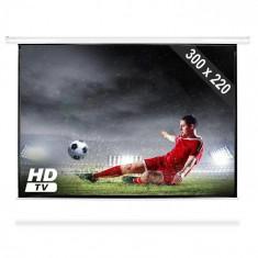 """FrontStage Ecran de proiecție electric 150"""" HD Home Cinema 4:3"""