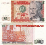 PERU 50 intis 1987 UNC!!!