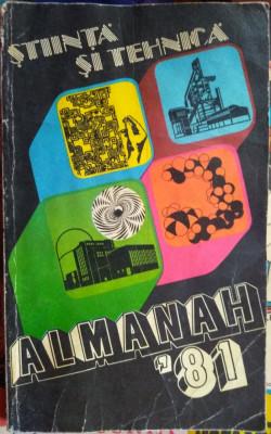 Almanah Știință și tehnică 1981 foto