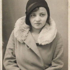 Fotografie portret de tanara, romaneasca interbelica veche
