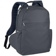 Rucsac Laptop, Everestus, SM, 15.6 inch, 600D poliester, gri, saculet de calatorie si eticheta bagaj incluse