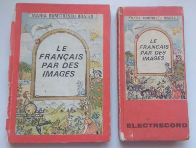 Vechi manual cursuri limba franceză + casete electrecord RSR vintage foto