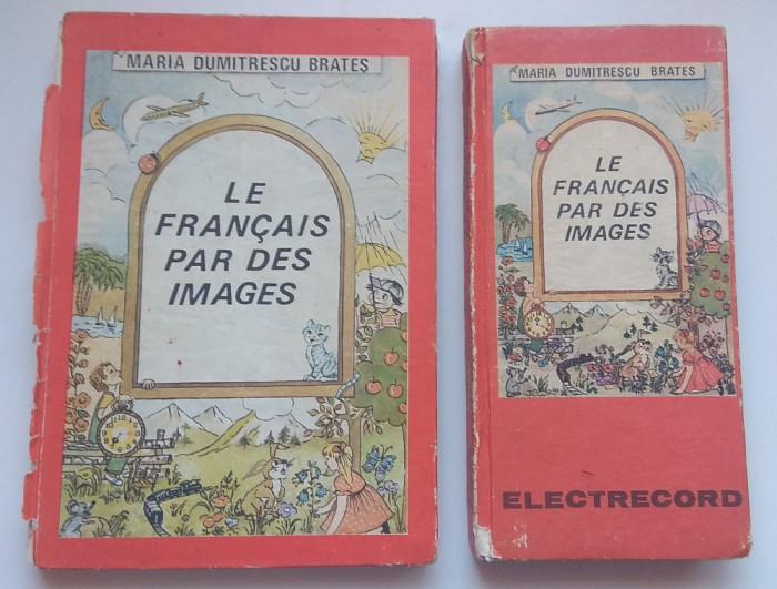 Vechi manual cursuri limba franceză + casete electrecord RSR vintage