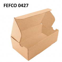 Cutie cu autoformare 130x85x65 mm, carton natur microondul E, FEFCO 0427