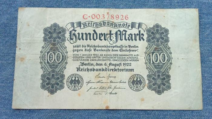 100 Mark 1922 Germania / marci germane / seria 00378926
