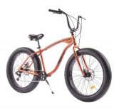 Bicicleta Pegas Fat Bike Cutezator EV, Roti 26inch, Cadru 17inch, 7 viteze (Portocaliu)