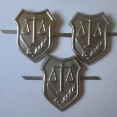 Lot 3 semne arma justitie militara anii 80 in stare excelenta