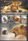 Cumpara ieftin DB1 Fauna Sao Tome Pradatori Tigru Jaguar Urs Vultur MS + SS MNH, Nestampilat