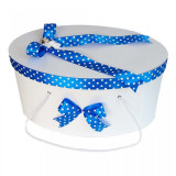 Cutie trusou botez fundite albastre cu buline si ingeras, Denikos® 7