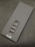 Breloc Auto Audi logo 2 fete accesorii cheie masina cadou pentru detinatori