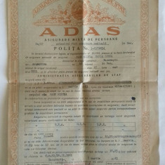 POLITA DE ASIGURARE ADAS - RPR