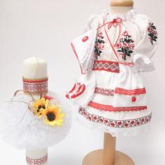 Set Traditional Botez Costumas fetita Lumanare 3