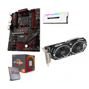 Pc Gaming Ryzen 5 1600 8GB DDR4 1TB HDD WD, MSI RX 570 Armor 8GB GDDR5 256-bit