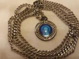 MEDALION argint FECIOARA MARIA splendid RAR delicat FRANTA finut pe Lant Argint