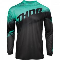 Tricou motocross Thor Sector Vapor culoare Negru/Verde marime XL Cod Produs: MX_NEW 29106115PE