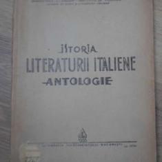 ISTORIA LITERATURII ITALIENE. ANTOLOGIE - COLECTIV