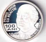 Romania 10 Lei 2010 (Henri Coandă) Argint 31.103g/999, 37mm,Proof KM-274 UNC !!!