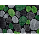 Covor 70x210 cm, verde gri negru, PEBBLE TYP 1