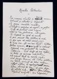 MANUSCRIS PE DOUA PAGINI , POEZIA - MOARTEA PASTORULUI - de ION PILLAT , SCRIS SI SEMNAT OLOGRAF , DATAT 20 DECEMBRIE , 1936