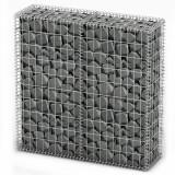 VidaXL Coș gabion cu capace, sârmă galvanizată, 100 x 100 x 30 cm