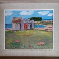 """""""Öland"""", pictură naivă semnată W. Plöger"""