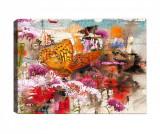 Cumpara ieftin Tablou Abstract Butterfly 40x60 cm - Tablo Center, Multicolor
