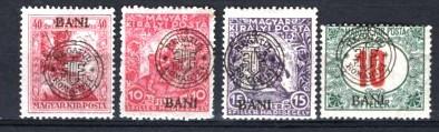 Romania 1919 - EMISIUNEA CLUJ. 4 TIMBRE EROARE SPRATIPAR DEPLASAT, P16