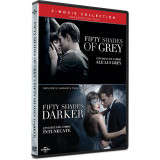 Pachet Cincizeci de umbre ale lui Grey + Cincizeci de umbre intunecate / Fifty Shades of Grey + Fifty Shades Darker - (2 filme DVD) Mania Film, universal pictures