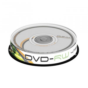 DVD-RW Omega, 4.7 GB, 4x, 10 bucati/bulk in cake box